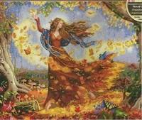 Free Shipping Cross stitch dmc spiraea rs dim-35262 fall fairy