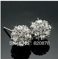 Beautiful ball Crystal stud earrings