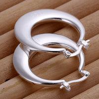 E077 Wholesale ! Wholesale 925 silver earrings, 925 silver fashion jewelry, Crescent Moon Earrings