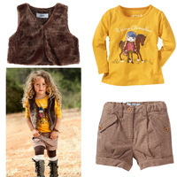 2013 new Children's clothing md female child fashion vest autumn piece set Girl children suit, suits, 2013 is the latest version