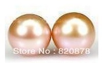 Wholesale Charming 8-9mm Pink Akoya Cultured Pearl Earring fashion jewelry