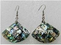 Natural Australian abalone shell deep earrings