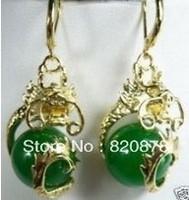 green jade&dragon Earring fashion jewelry