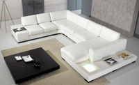 Luxury and Elegant Cream Soft leather Bed, Pull Dot Design sofa bed, best choice for your bedroom B06