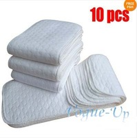 Promotions 10pcs New Reusable Baby Modern Cloth Diaper Nappy Liners inserts 3 Layers
