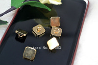 Free shipping  10mm Metal button button button square fashion exquisite children rose gold