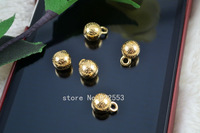 Free shipping 8mm Metal button fine spherical button leopard pattern button fashion children buttons rose gold