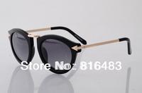 Hot 2013 Vintage Eye glasses Best Fashion designer Brand Karen walkere sunglasses 1101406 gold womens top popular free shipping