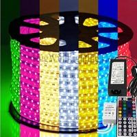 Not cheapest but safety!SMD 5050 flexible light RGB LED Strip light 150leds/roll +44 keys IR Remote+12V 6A Power Adapter