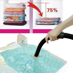 Wholesale Free Shipping 1 Piece Hot Sale Large Space Saver Saving Storage Bag Vacuum Seal Compressed Organizer(China (Mainland))