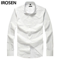 Irosen white fashion formal shirt slim business casual shirt long-sleeve fashion male