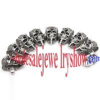 Cool Design Silver & Black Skull Mask Stainless Steel of Bespoke Bracelets