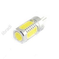 1pcs G4 5 SMD 7W LED White / Warm White Car Light Bulb Chip AC / DC 12V 700Lumen