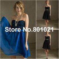 New Fashioned Style 31019 Lace and Chiffon Satin Tie Sash Royal bridesmaid dresses cheap