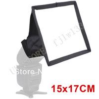 100% GUARANTEE 10pcs  15 x 17 cm Foldable Flash Diffuser Softbox For Canon Nikon Pentax Sony Olympus all dsrl camera