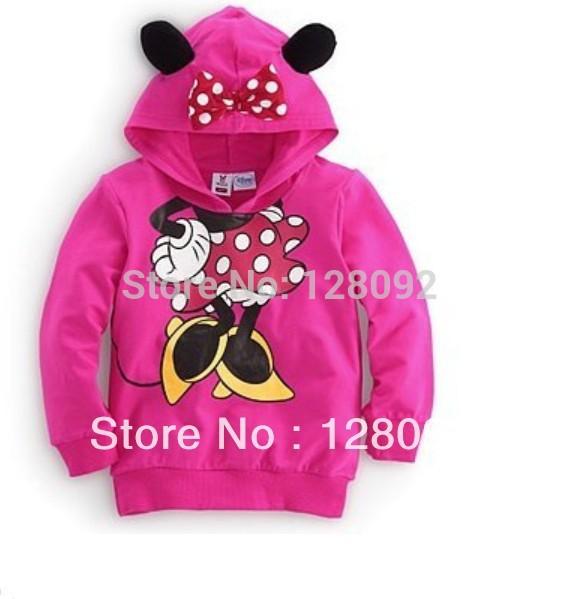 Free shipping 5pcs/lot Children long sleeve cartoon clothing hooded pullover sweater Boy girls hoodies coat Hot sale(China (Mainland))