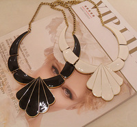 Fashion oil geometry necklace