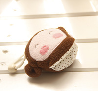 Cartoon panda octopus plush doll key wallet keychain