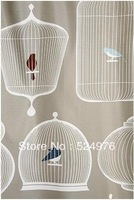 180cm*200cm Pastoral Style Birdcage Shower Curtain,Waterproof Mouldproof Bathroom Curtain,High Quanlity Free Shipping