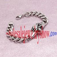 Silver Cool Skull Bracelet Stainless Steel jewelry