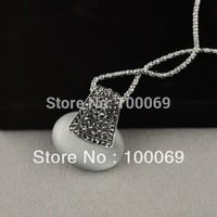 Fashion Jewelry Retro Big Oval Opal Pendant Necklace Hot Sale N1143