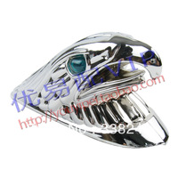 Turtle Scooter Decoration  Plate , Front Fender Goshawk Head  , Electroplating pretty , Free Shipping