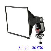 100% GUARANTEE10pcs  20cmx30cm Universal Foldable Flash Light Diffuser Softbox Soft box for Canon Nikon pentax all DSLR CAMERA