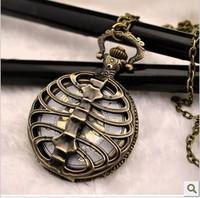 FG-022Free Shopping Pocket watch wholesale antique fashion High Quality vertebra retro  alloy globular pocket watch
