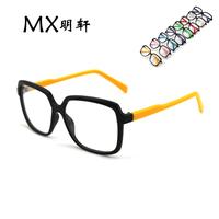 Popular vintage big box fashion two-color glasses basic plain glass spectacles belt lens
