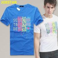 Summer men's clothing short-sleeve T-shirt 100% short-sleeve o-neck cotton teenage plus size plus size clothes personalized boys