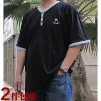 Clothes plus size men's clothing european version of the plus size short-sleeve T-shirt plus size plus size fat guys