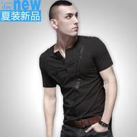2013 summer slim plus size plus size men's clothing o-neck clothes male short-sleeve T-shirt