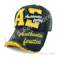 Quality Summer Hats for Women Fashion Adjustable Letter Embroidery Torn Edges Caps Free Shipping Wholesale Price 8 colors option