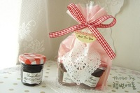Lovely pink and white lace heart biscuit cookie bread plastic bag OPP food bag Bakery packaging bag