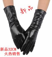 New arrival Bell gard 32cm women's design long gloves t ruslana korshunova spring and summer leather gloves u thin female