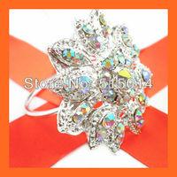 Free Shipping! 200pcs/lot Crystal AB  Wedding Rhinestone Napkin,Rhinestone Holders,Napkin Holders