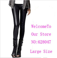 Hot selling!! Fashion Womens Faux Leather High Waist Leggings Pants free shippping