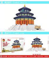 Free Shipping WanGe 8020 1052PCS Large DIY bricks blocks building block sets children educational toys Temple of Heaven Beijing