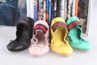 Design fashion women female bandage flat ballet shoes pumps