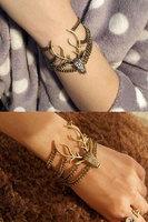 Rhinestone,fancy bracelet,Gothic deer.Free shipping!