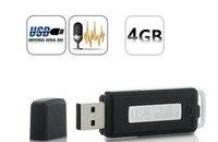USB Flash Drive Surveillance Audio voice Recorder 4GB - 70 Hours Black UR08-4G