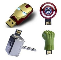 Iron Man Series Metal Models 4GB-32GB Usb 2.0 memory flash drive  IS00063