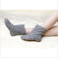 Spring Knitted mesh hollow boots the boots mesh cool spring and summer women's boots boots single boots
