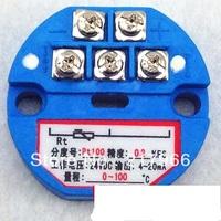 2PCS X New PT100 Temperature Transmitter Sensor 4-20mA putout -50-100 degree,0-100,200,300,500degree STD-420