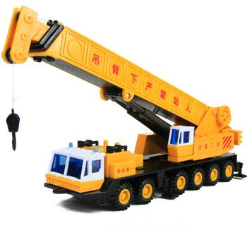 Toy car alloy car models fire truck giant long arm crane 60cm luxury gift box set