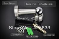 2pcs Stainless Steel Magnetic Door Stop Stopper Holder
