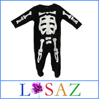 New Year Kids Newborn Footed Skeleton Winter Rompers Baby Wear One Piece Skull Baby Bodysuits Baby Clothing