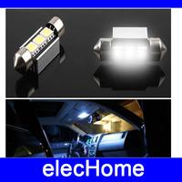 3 leds SMD 5050 LED 36mm Car Auto Light Bulbs License Plate Light LED Festoon Light Bulbs Free Shipping