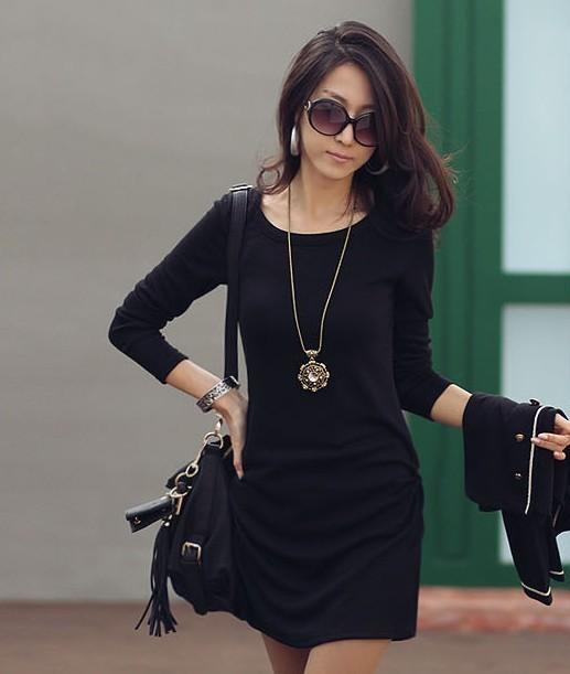 Free shipping summer women cheap clothing 2605 women's raglan sleeve o-neck long design basic T-shirt long-sleeve shirt(China (Mainland))