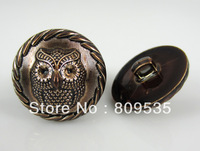 Free Shipping 30Pcs Owl Pattern Round Plastic Buttons Fit Sewing 25.0mm